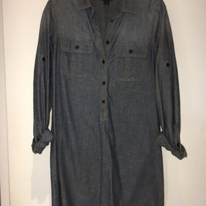 J Crew chambray shirt dress